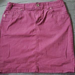 Sonoma Maroon Jean Skirt
